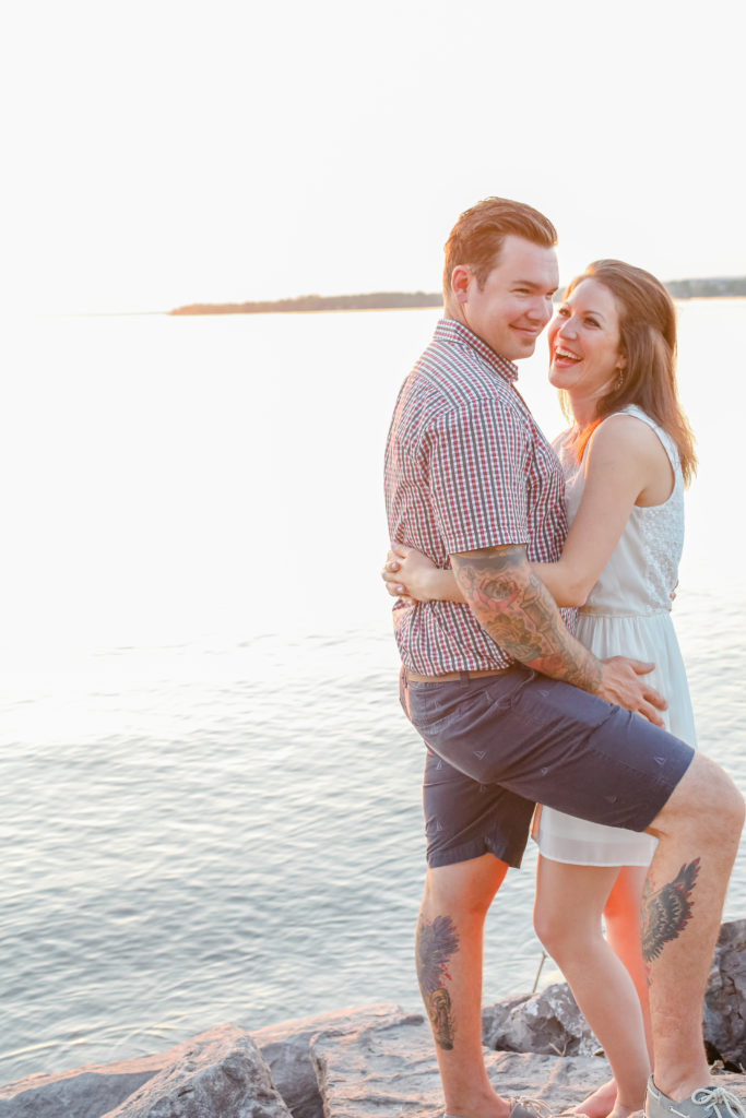 beach boho vibes from this fun engagement session at britannia beach ottawa spring Engagement Session Downtown Ottawa during Sunset grey loft studio ottawa wedding photographer videographer engagement kanata orleans nepean beautiful locations for engagement photos in ottawa plaid shirt sleeve tattoo engagement session