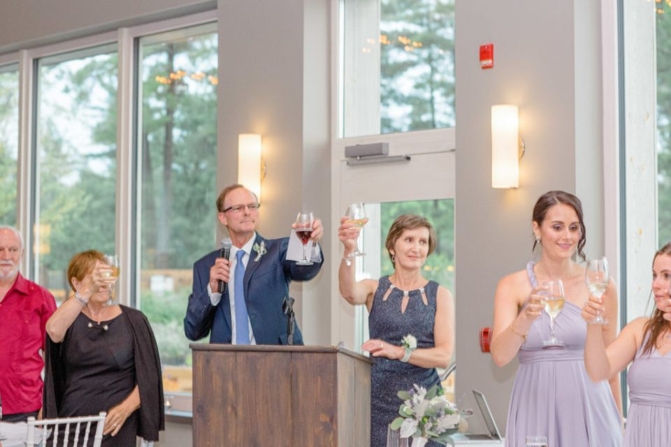 Parent's Toasting the New Married Couple - Reception Photos at a Wedding - Lavender Rain Inspired Wedding - Le Belvedere- Grey Loft Studio- Ottawa Wedding Photographer - Affordable - Cheap - Fine Art - Best - Kanata Photographer - Wedding Videographer Ottawa - Light and Airy - Beautiful - Timeless - Organic Photographer Carp - Stittsville
