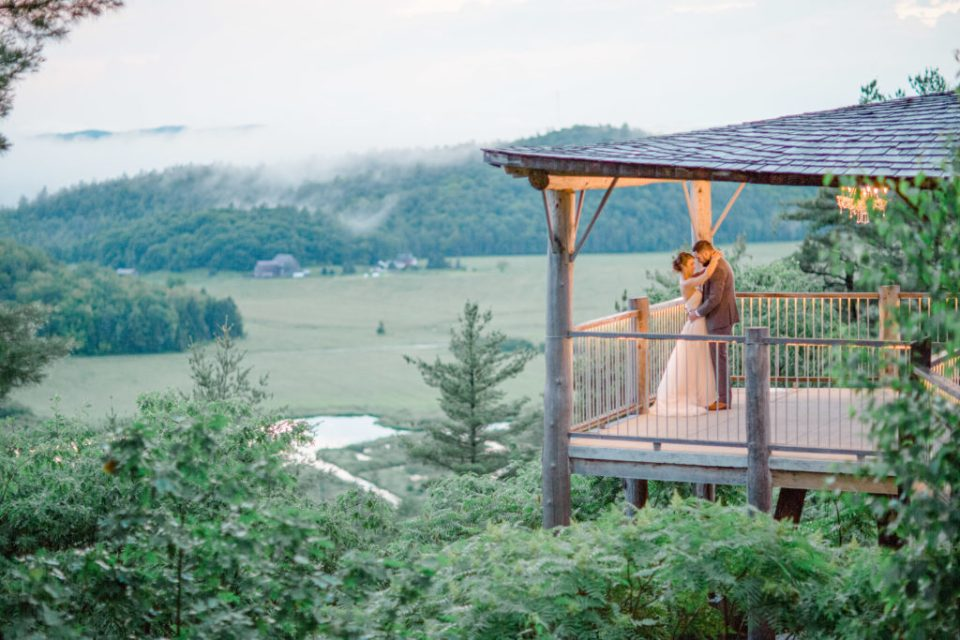 First Dance overlooking the Mountains - Fog - Bride and Groom- Lavender Rain Inspired Wedding - Le Belvedere- Grey Loft Studio- Ottawa Wedding Photographer - Affordable - Cheap - Fine Art - Best - Kanata Photographer - Wedding Videographer Ottawa - Light and Airy - Beautiful - Timeless - Organic Photographer Carp - Stittsville
