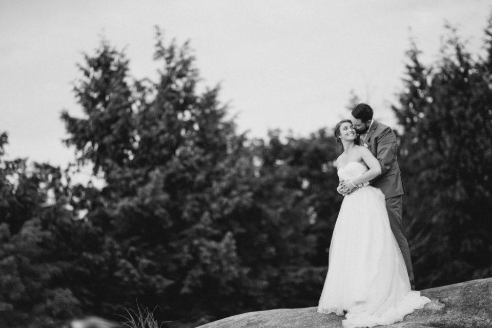 Bride and Groom Smiling at Each Other - Black & White - Lavender Rain Inspired Wedding - Le Belvedere- Grey Loft Studio- Ottawa Wedding Photographer - Affordable - Cheap - Fine Art - Best - Kanata Photographer - Wedding Videographer Ottawa - Light and Airy - Beautiful - Timeless - Organic Photographer Carp - Stittsville