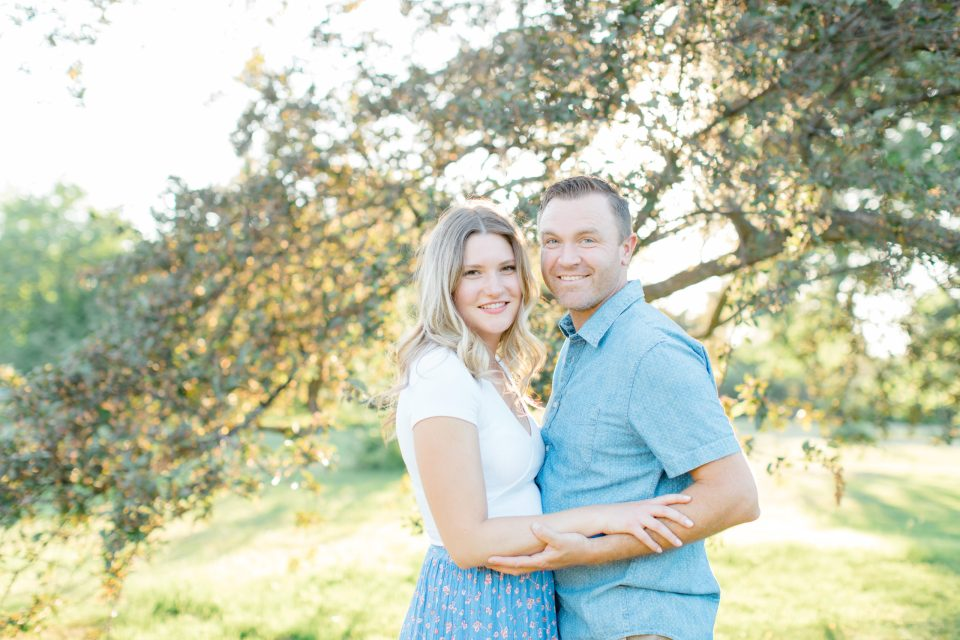 Sunset - Neutral Blue/White/Grey Engagement Session Outfit Inspiration - Natural Posing -  Grey Loft Studio - Ottawa Engagement Session - Dominion Arboretum - -Wedding Photographer Ottawa - Wedding Photo Ottawa - Ottawa Wedding Videographer - Ottawa Wedding Photography & Videography - Ottawa Photo Studio