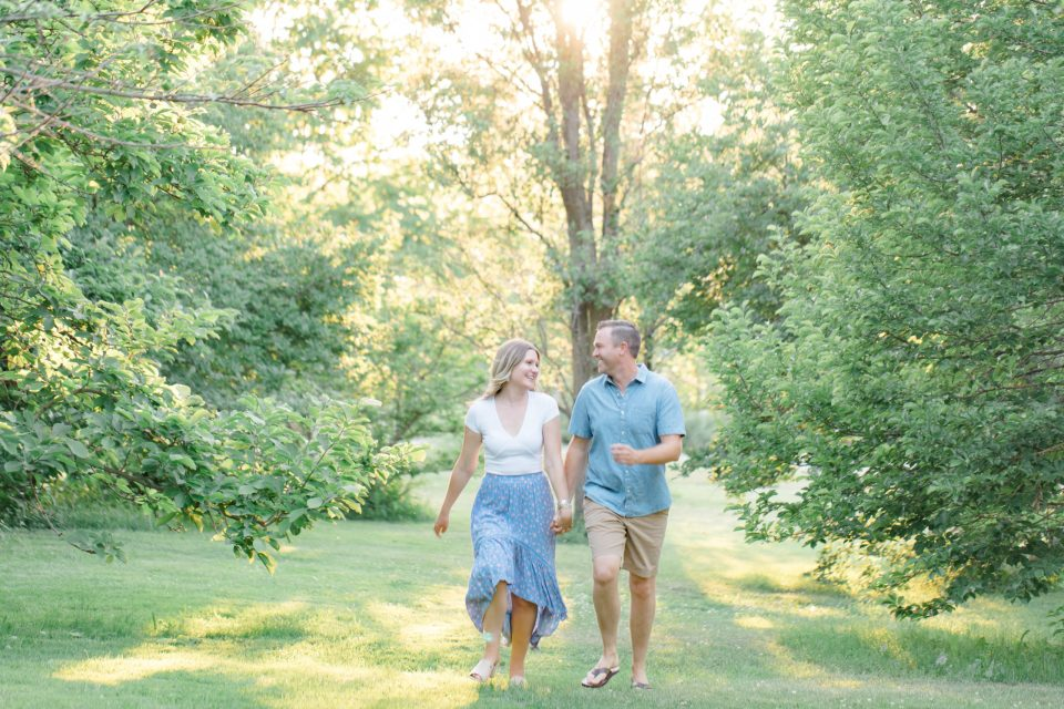 Bright, Fun, Natural, Engagement Session at Sunset - Blue & Neutral Inspiration - Summer Engagement Session -