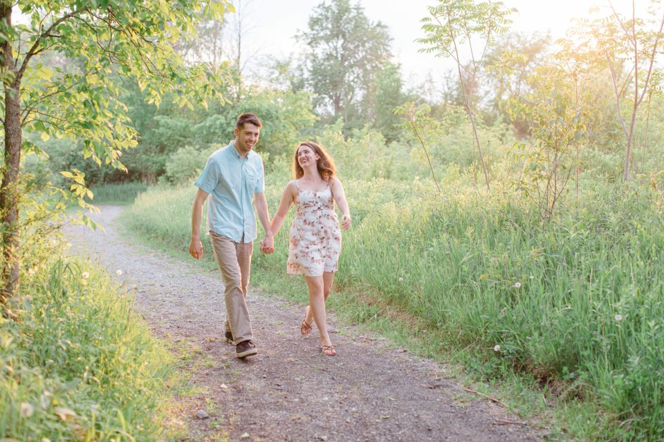 Frolic during Engagement Session - Top Tricks for Beautiful Photos during your Session - Natural Looking Beautiful.