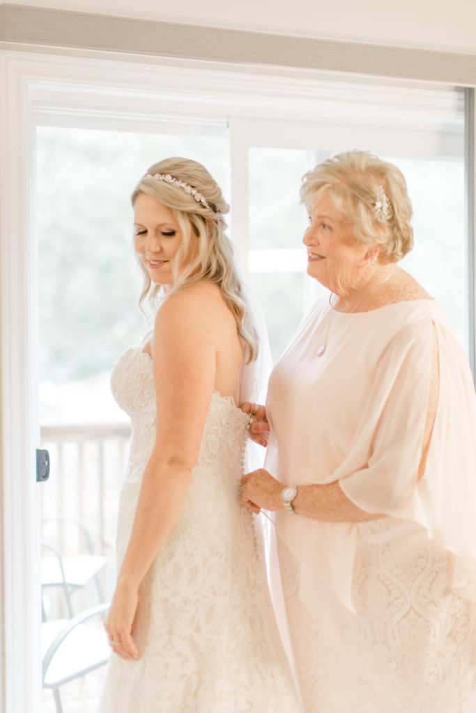 Bride and Mother - Doing up Dress Shots - Bride getting Ready Photos - Romantic Wedding at NeXt in Stittsville - Grey Loft Studio - Ottawa Wedding Photographer - Ottawa Wedding Photo & Video Team