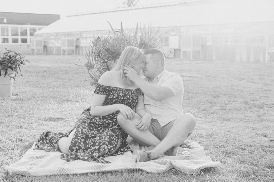 Summer Engagement Session inspiration - Neutrals, Blues, Flowy Dress - Floral Print Navy - Grey Loft Studio - Ottawa Wedding Photographer - Wedding Videographer - Fun, Natural, Bright Photo Video Team. - Photographe - Greyloft - Ottawa Engagement Pictures