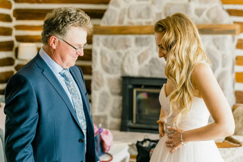Bride Reveal with her Dad on her Wedding Day