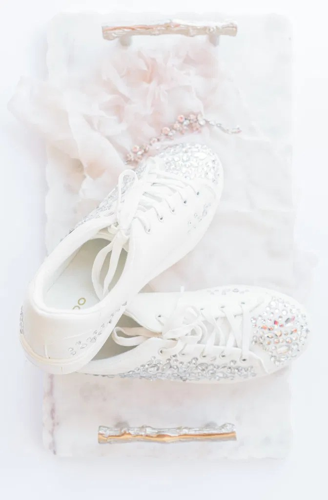 Diamond Aldo Shoes on your Wedding Day - Bright and Airy -  Natural Wedding Posing - Ideas for what to wear for Blush Wedding Photography, Modern Wedding Blush &. Navy Wardrobe inspiration- Unsure of what to wear for your wedding, we've got you! Romantic white with greenery, blush and navy theme. Grey Loft Studio is Ottawa's Wedding and Engagement Photographer for Real couples, showcasing photos that are modern, bright, and fun.