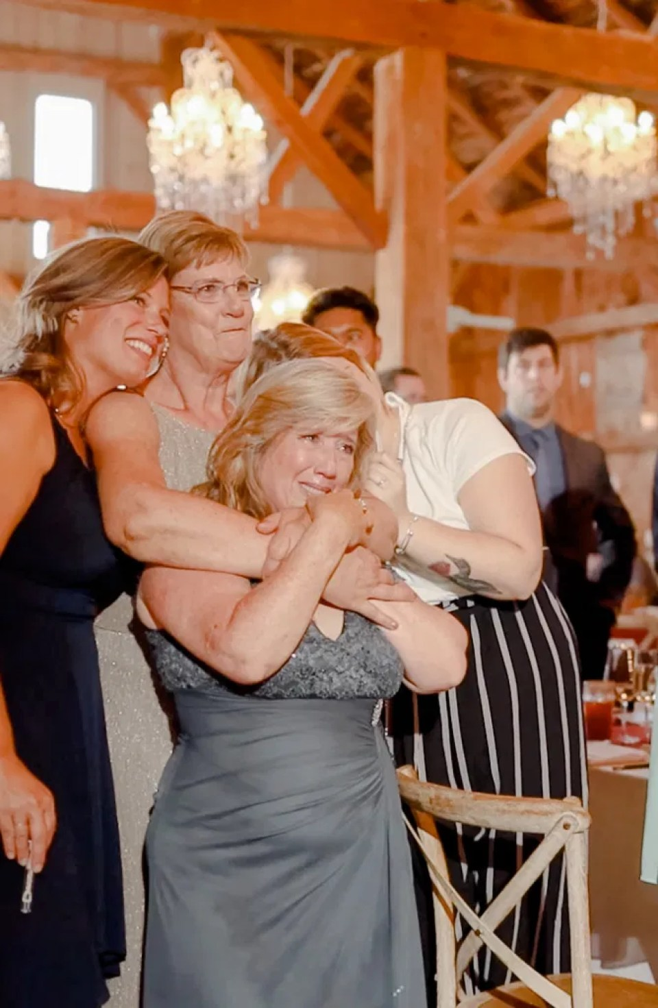 Mother of the Groom & Mother of the Bride- Emotional during Son and Daughter's First Dance - First Dance -Evermore Wedding and Events, Almonte - Bright, Modern, and Fun Wedding Photography. Grey Loft Studio . Wedding Photographer Ottawa.