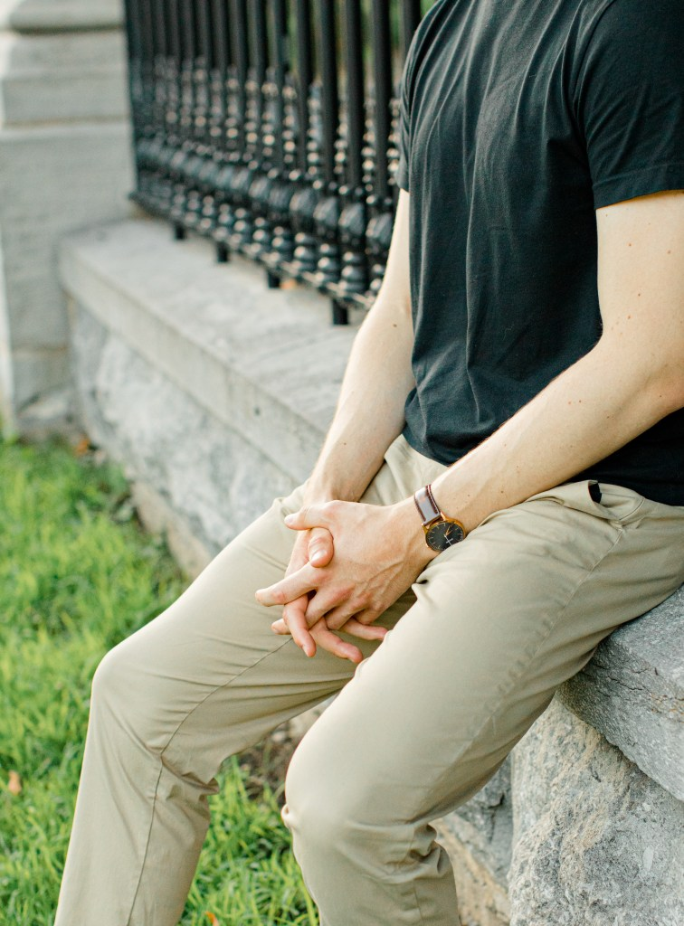 Groom to be -Engagement Photo Must haves - Black polo