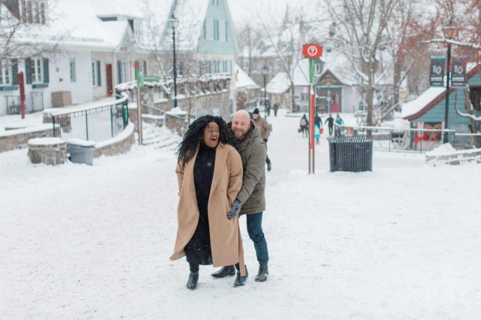 Tremblant Engagement Session - Snowy Engagement - Grey Loft Studio