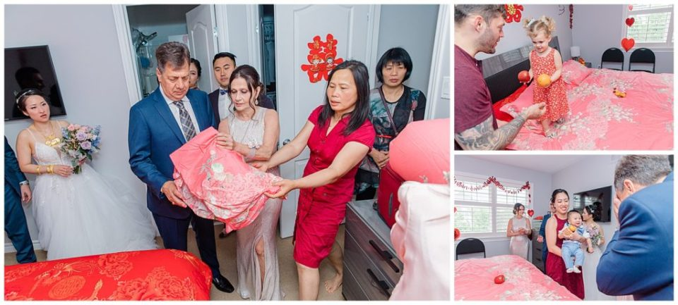 Traditional Chinese Making of the ceremonial bed - Lisa & Pat - Grey Loft Studio - Wedding Photo & Video Team - Light and Airy - Ottawa Wedding Photographer & Videographer