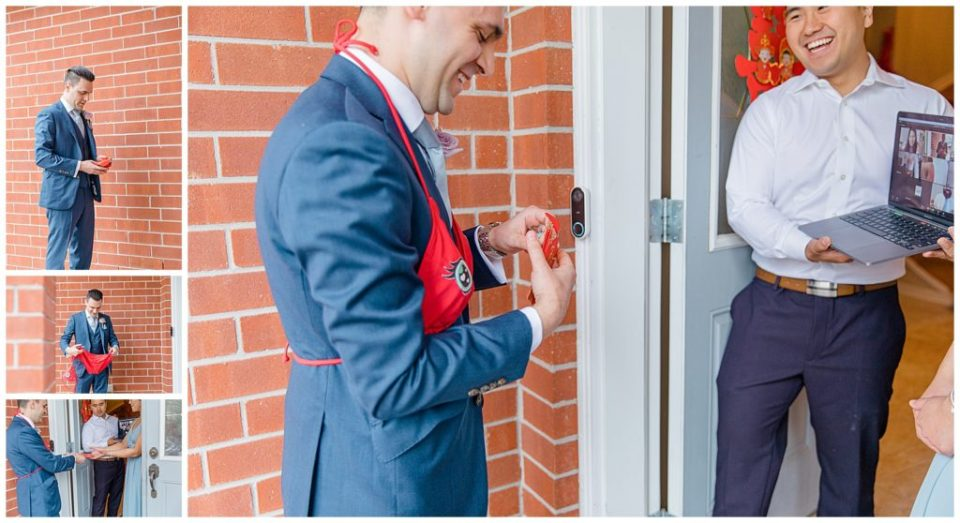 Traditional Chinese Door games - Before Wedding and Tea Ceremony - Lisa & Pat - Grey Loft Studio - Wedding Photo & Video Team - Light and Airy - Ottawa Wedding Photographer & Videographer