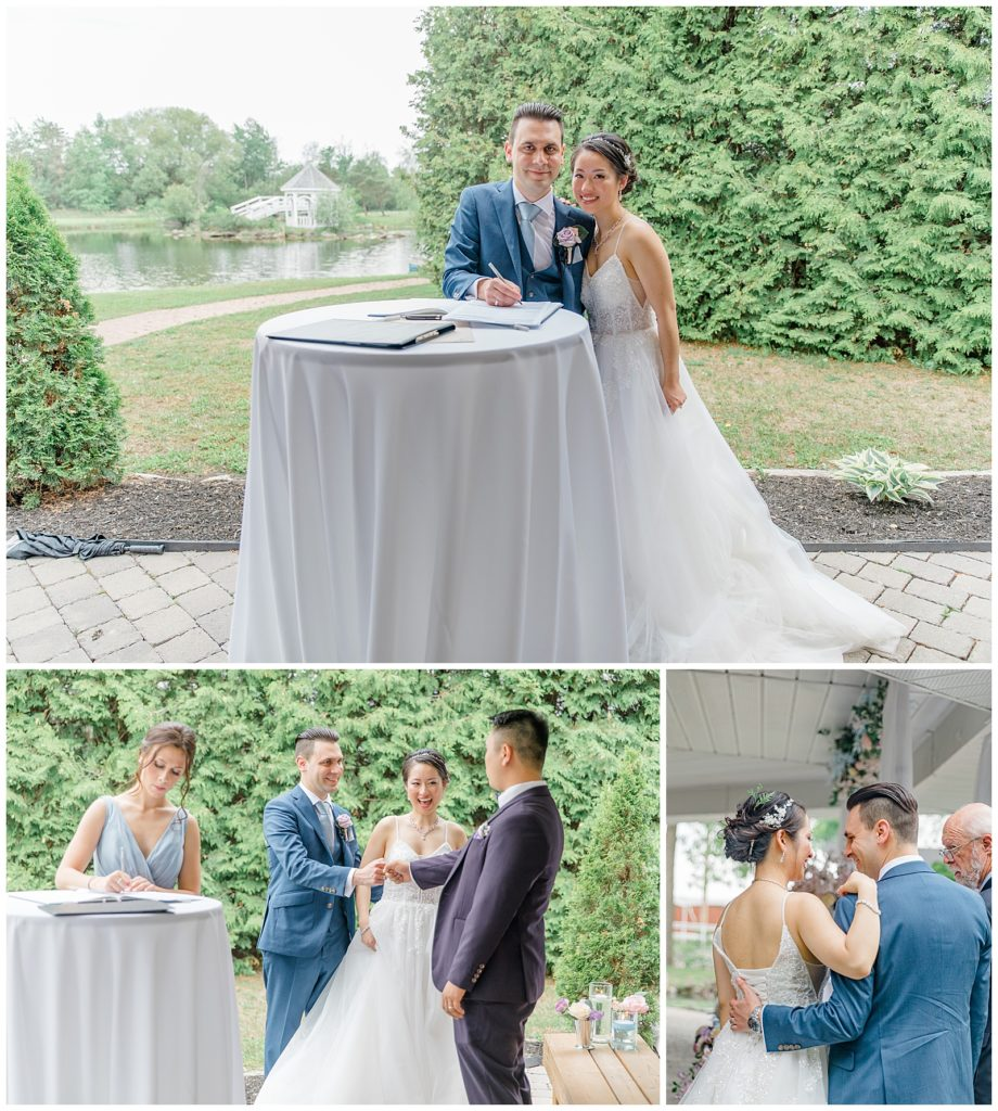Signing the papers - Italian & Chinese Family - Wedding - Lisa & Pat - Grey Loft Studio - Wedding Photo & Video Team - Light and Airy - Ottawa Wedding Photographer & Videographer Orchard View Weddings