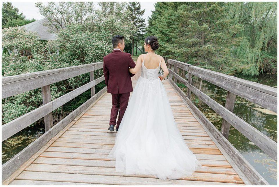 With dad before walking down the Aisle - Italian & Chinese Family - Wedding - Lisa & Pat - Grey Loft Studio - Wedding Photo & Video Team - Light and Airy - Ottawa Wedding Photographer & Videographer Orchard View Weddings