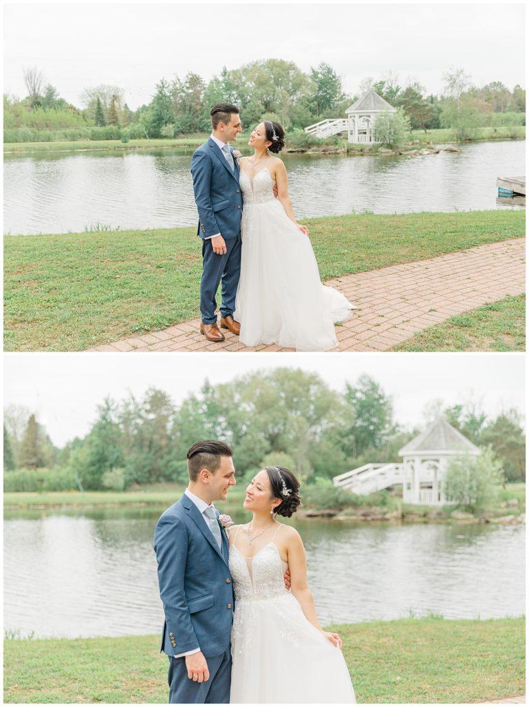 Bride & Groom - Wedding Day Portraits - Italian & Chinese Family - Wedding - Lisa & Pat - Grey Loft Studio - Wedding Photo & Video Team - Light and Airy - Ottawa Wedding Photographer & Videographer Orchard View Weddings