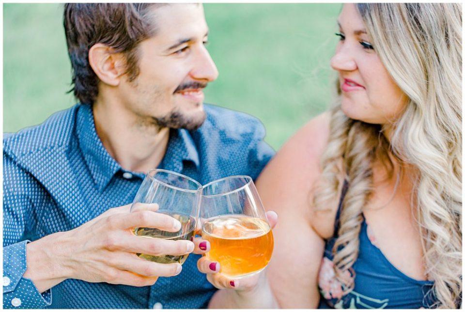 Somersby Watermelon Prop - Engagement Session Sunset Engagement Session - Backyard Carp - Engagement Photo - Ottawa Wedding Photographer - Grey Loft Studio
