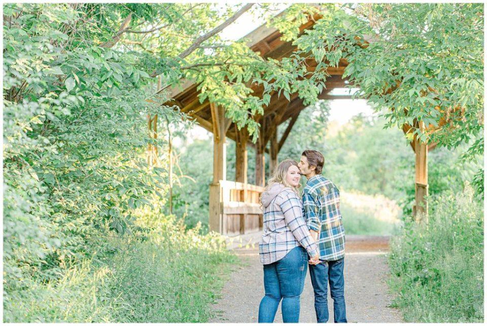 Kiss on the temple - Engagement Photo - Ottawa Wedding Photographer - Grey Loft Studio