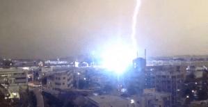 Lightning Strikes Train Tokyo