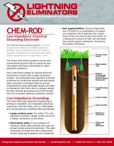 chem-rod brochure - Electrical earthing in Rock