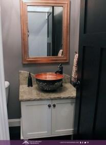 half bath copper sink