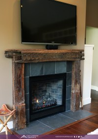 reclaimed wood mantle and surround antique wood fireplace mantle slate heart