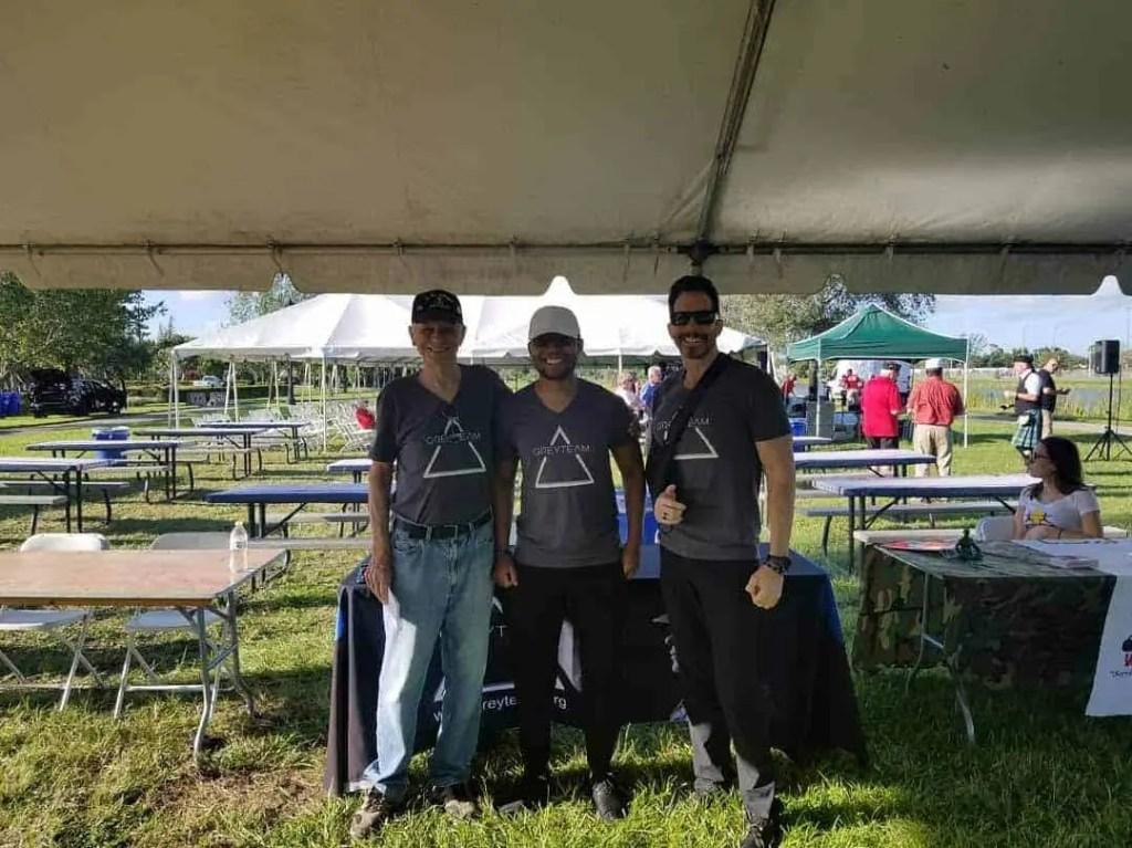 Grey Team Volunteers Participating In 2019 Veterans Day Celebration In Boca Raton, Florida.