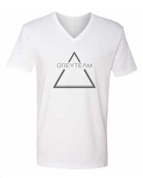 Grey Team Inifinity V Neck T Shirt Front