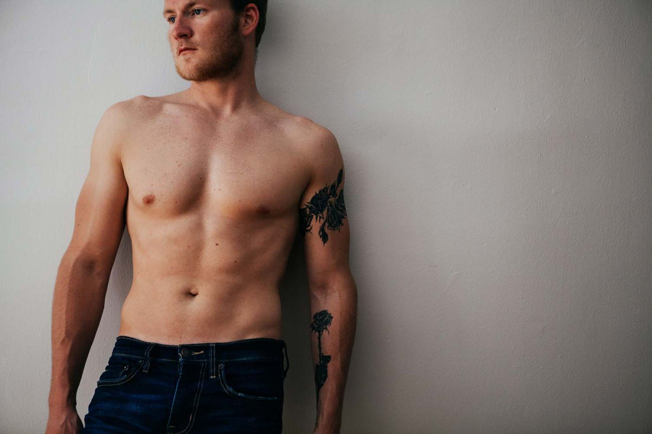 Austin's Studio Portrait, Male, Man Intimate Portrait Photography Twin Cities, Uptown
