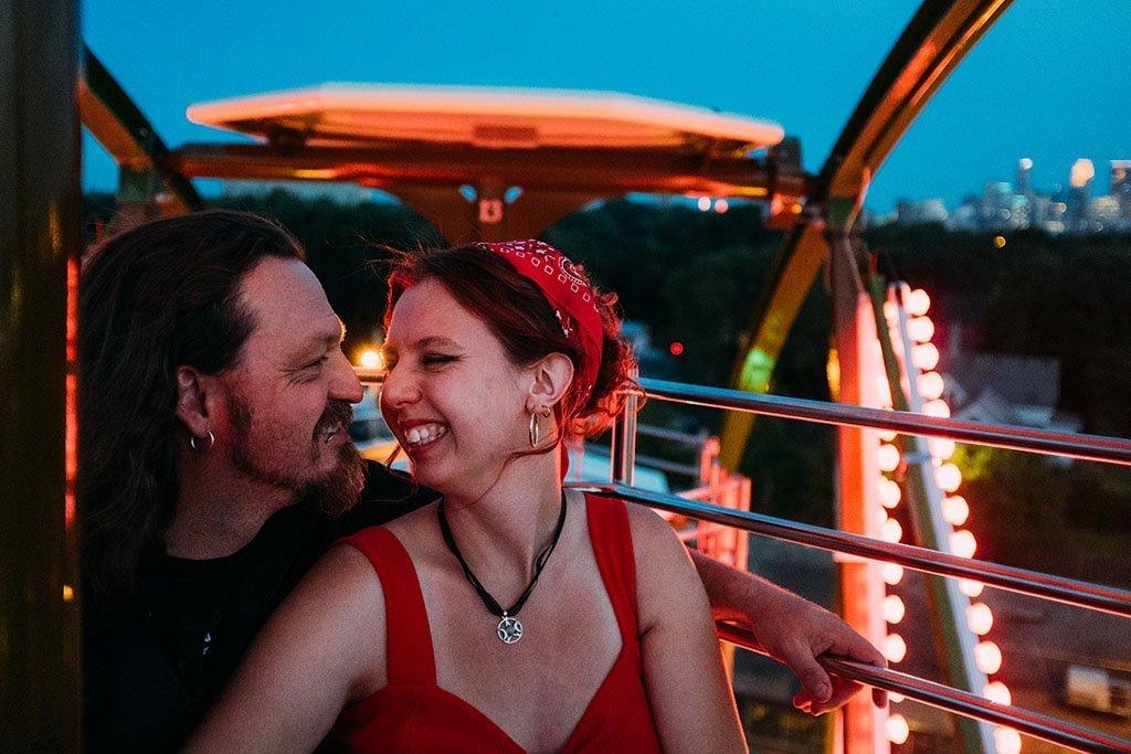Betty Dangers Ferris Wheel Minneapolis Engagement Photographers
