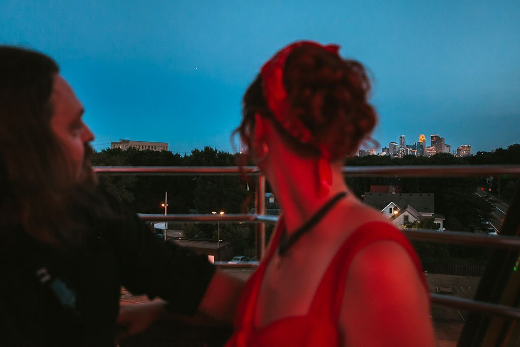Betty Dangers Minneapolis Skyline Engagement Photographers