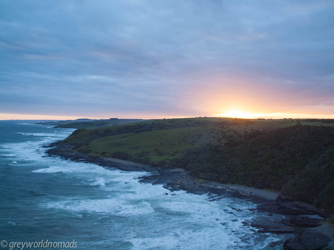 Sunset over cliffs, Morgan Bay, Wild Coast