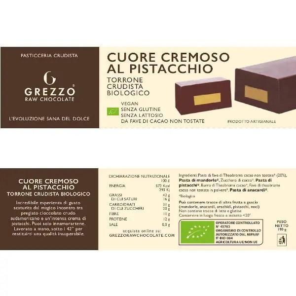 torrone cioccolato crudo e pistacchio