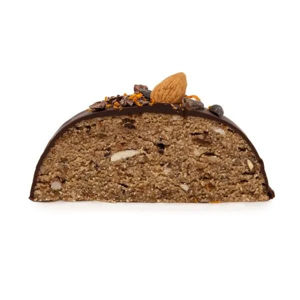 Krumorino torta crudista con mandorle e cioccolato crudo