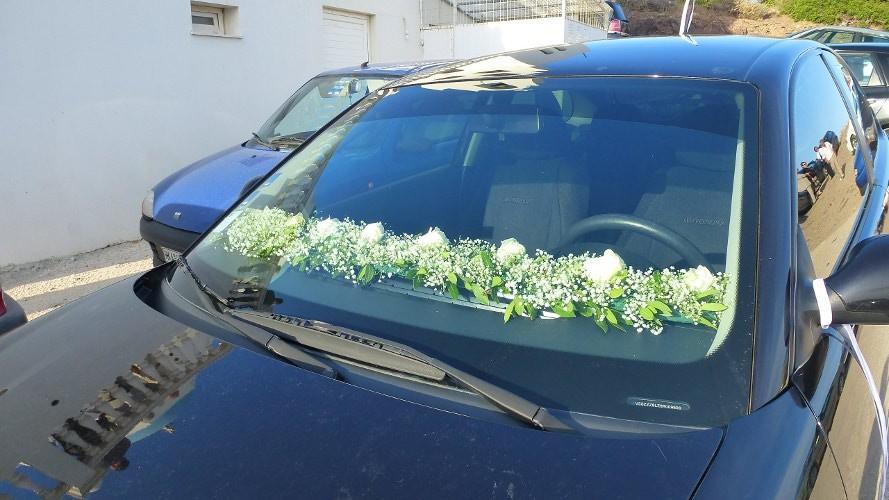 Εσωτερική γιρλάντα αυτοκινήτου από γυψόφυλλο και τριαντάφυλλα