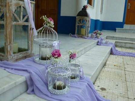 στολισμός γάμου με vintage πινελιές