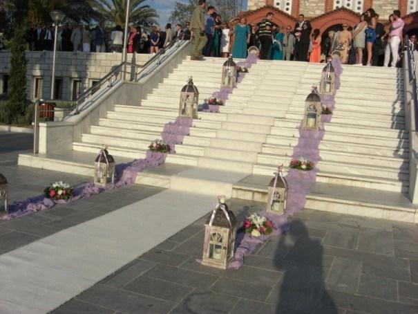 στολισμός γάμου 550 ευρώ 8 φαναράκια, 8 κασπό, χαλί, ύφασμα