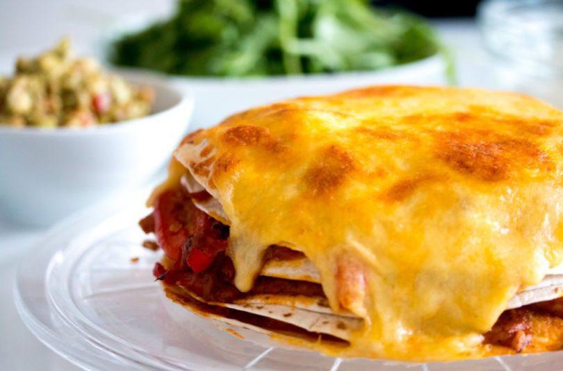 Mexíkósk tortillapizza með kjúklingi