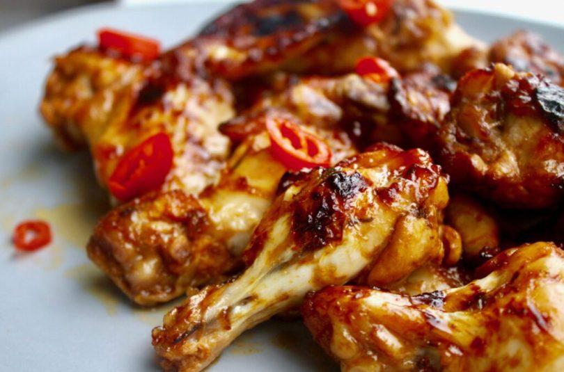 Einfaldir sweet chili kjúklingavængir