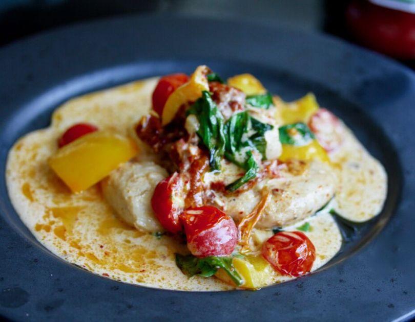 Kjúklingur í chilí-parmesan ostasósu