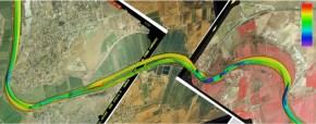Murray Bridge bathymetry and aerial imagery