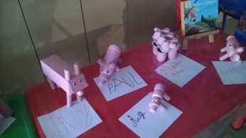 Atelier recup' petits cochons