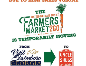 Farmers Market2Go Pickup Moved to Uncle Shugs Across from Three Tree