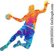 handball silhouette clip art royalty