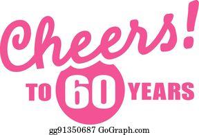 60th Birthday Clipart Lizenzfrei Gograph