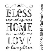 Download Bless This Home Clip Art - Royalty Free - GoGraph