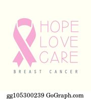 Vector Art - Faith, hope, love- pink ribbon to symbolize ...
