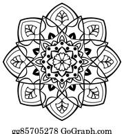 Simple Mandala Designs Clip Art Royalty Free Gograph