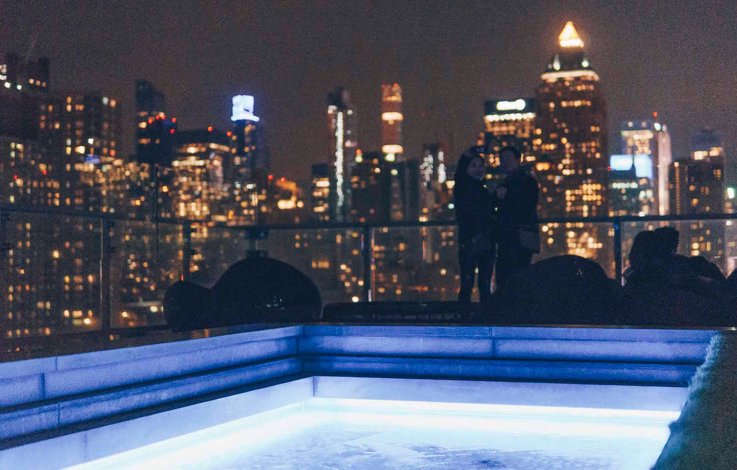 new york city at night press lounge rooftop