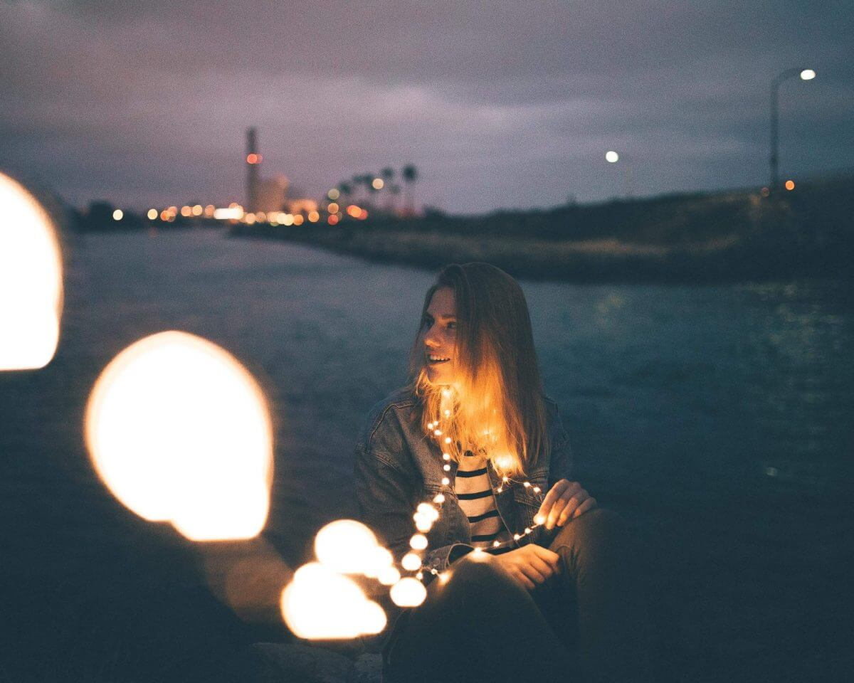 how to take photos with fairy lights