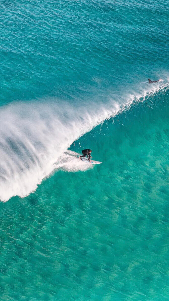 Aerial Drone images of Surfing
